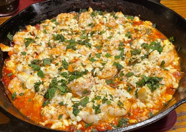 Greek Shrimp with Tomato & Feta